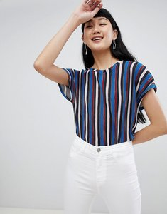 Read more about Pull bear multi stripe top in blue - blue