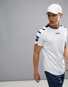 Read more about Ellesse tennis t-shirt with oversized sleeve logo in white - white