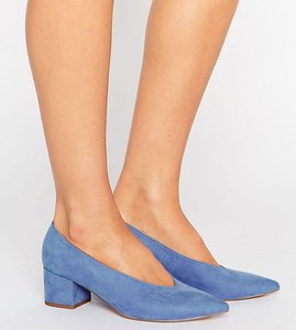 Read more about Asos swipe pointed heels - blue