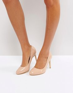Read more about London rebel round toe point high heels - nude patent