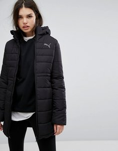 Read more about Puma essentials long padded jacket in black - black