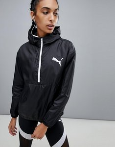 Read more about Puma spark 3 4 zip wind jacket - black