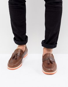 Read more about Kg by kurt geiger tassel boat shoes in brown - brown