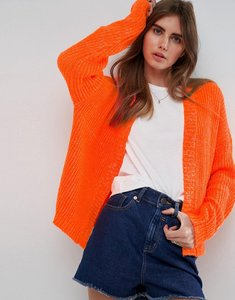 Read more about Asos chunky cardigan with wide sleeve - orange