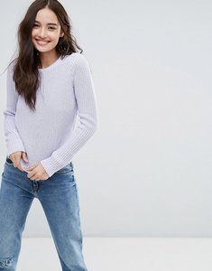 Read more about Pimkie crew neck ribbed jumper - lilac