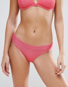 Read more about Weekday pink ribbed bikini bottom - bright pink