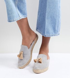 Read more about Park lane suede espadrille mules - grey