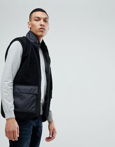 Read more about Bellfield gilet in teddy fleece - black