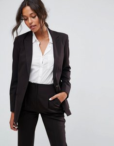 Read more about Asos the boyfriend blazer mix match - black