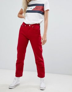 Read more about Tommy jeans high rise straight leg jeans - samba rigid