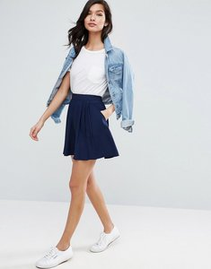 Read more about Asos mini pleated skirt - navy