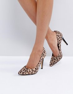 Read more about Head over heels by dune allice leopard print pointed court shoes - multi