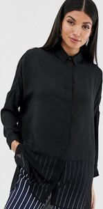 Read more about Asos design tall soft shirt in sheer and solid - black