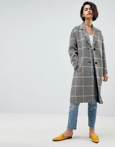 Read more about Asos design coat in coloured check - multi