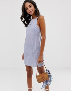 Read more about Asos design buckle back cotton mini sundress in stripe