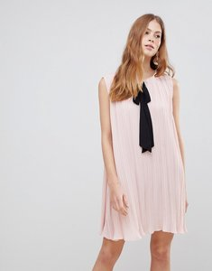 Read more about Vila contrast bow dress - peach whip