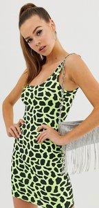Read more about Fashionkilla vest dress in neon yellow giraffe