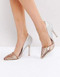 Read more about Miss kg andrea sequin court shoes - metal comb