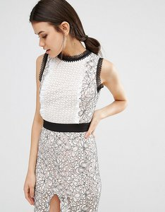Read more about True decadence tall scallop lace midi pencil dress - multi