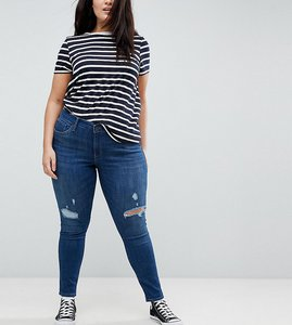 Read more about Levi s plus 310 super skinny jean with rips - dark mid blue