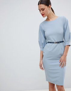 Read more about Closet london belted pencil dress - blue