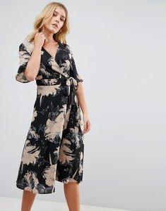 Read more about Uttam boutique flower print wrap dress - black