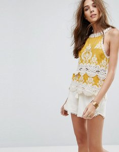 Read more about New look crochet detail cami top - mustard