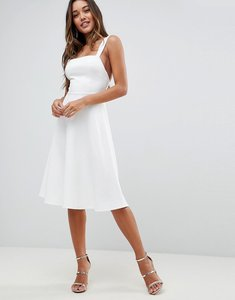Read more about Asos square neck prom dress - ivory