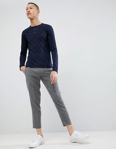 Read more about French connection henley long sleeve top - navy