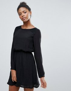 Read more about Vila clean long sleeve skater dress - black
