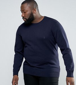Read more about French connection plus lightweight crew neck jumper - navy
