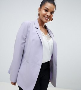 Read more about Asos design curve the tailored blazer mix match - grey lilac