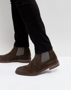 Read more about Steve madden teller suede chelsea boots in brown - brown