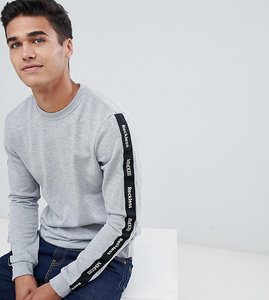 Read more about Only sons sweatshirt with arm branding - light grey