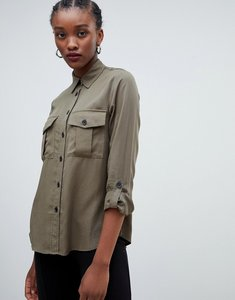 Read more about New look utility shirt - dark khaki