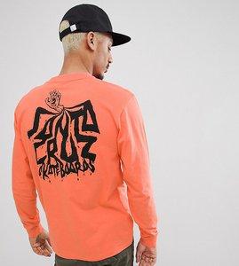 Read more about Santa cruz spill long sleeve t-shirt in orange exclusive to asos - orange