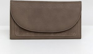 Read more about French connection foldover clutch purse with suede panel - mushroom