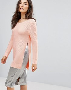 Read more about Qed london jumper with split sides - pink