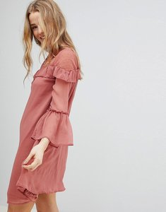 Read more about Influence chiffon frill detail dress - blush