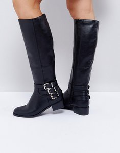 Read more about Asos cash knee boots - black