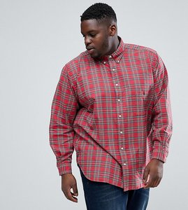 Read more about Polo ralph lauren plus oxford shirt in red check - red hunter green