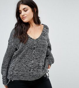 Read more about Alice you relaxed jumper with threading - grey marl