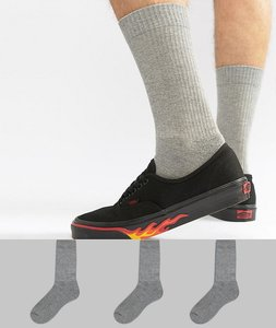 Read more about Asos design sports style socks in grey marl 3 pack - grey