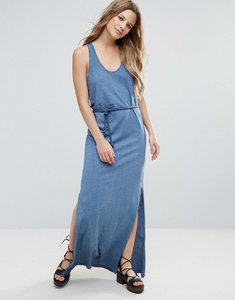 Read more about Brave soul beck maxi dress with plaited belt - denim blue