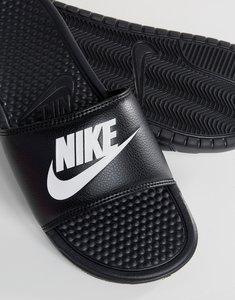 Read more about Nike benassi jdi sliders in black 343880-090 - black