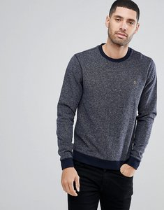Read more about Farah romilly textured sweatshirt in navy - navy