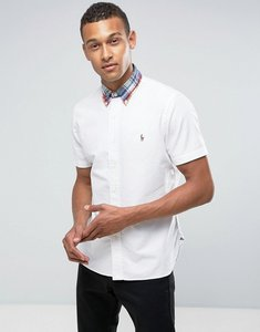 Read more about Polo ralph lauren oxford shirt short sleeve custom regular fit in white - white