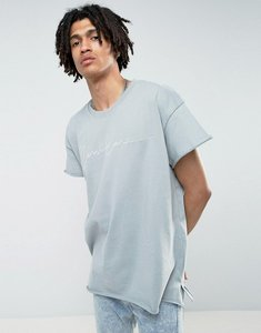 Read more about Mennace regular fit t-shirt with embroidery in light blue - blue