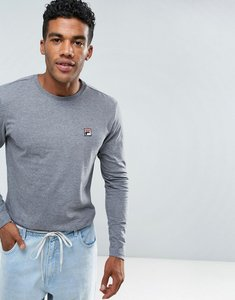Read more about Fila vintage long sleeve t-shirt with small logo in grey - grey