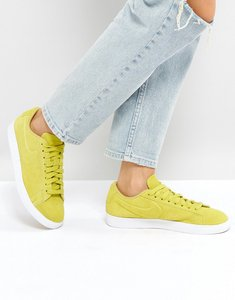 Read more about Nike blazer low trainers in yellow suede - yellow